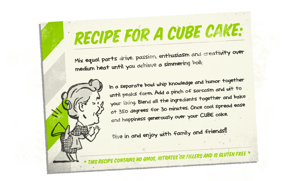 Recipe for a Cube Cake