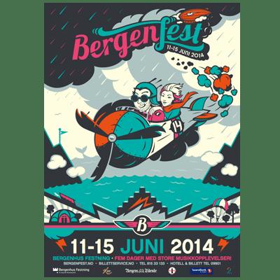Bergenfest Poster 2014 Illustration Design
