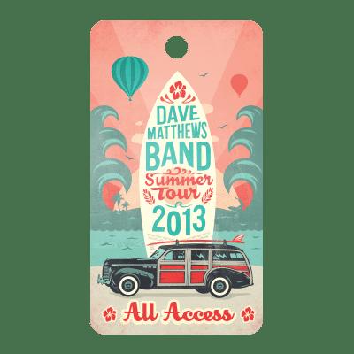 Dave Matthews Summer Tour DT Illustration Design