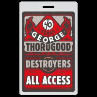 George Thorogood 40 Years Illustration Design